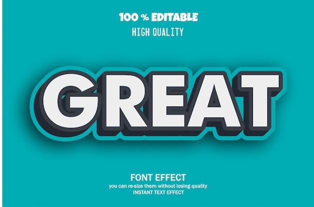 Toller text, editierbarer font-effekt Premium Vektoren