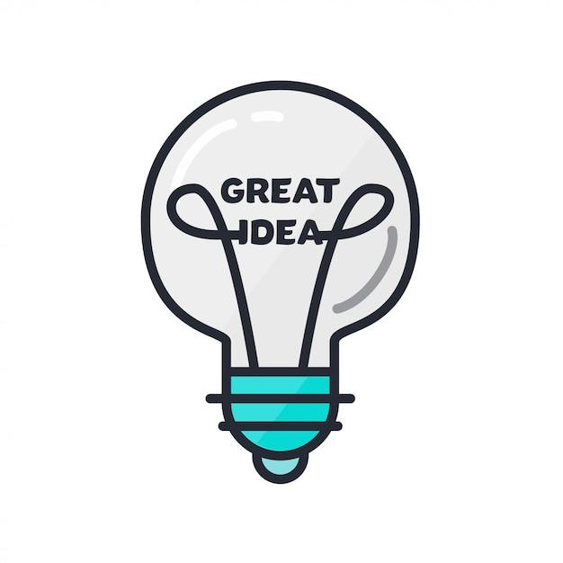 Tolles ideenkonzept Premium Vektoren