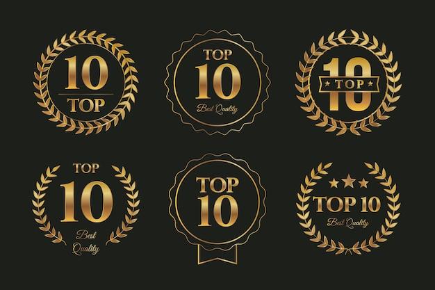 Top 10 abzeichen sammlung Kostenlosen Vektoren