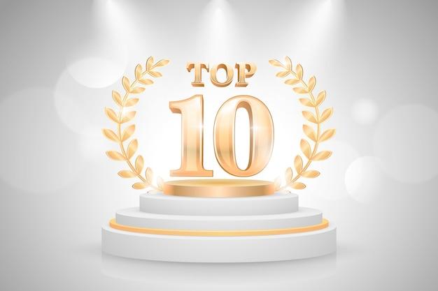 Top 10 der besten podestplätze Kostenlosen Vektoren