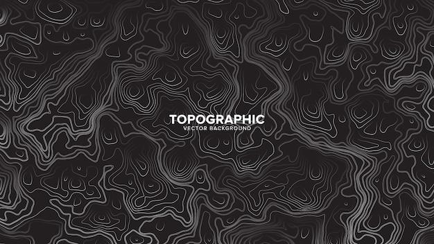 Topografischer höhenlinien-karten-zusammenfassungs-hintergrund Premium Vektoren