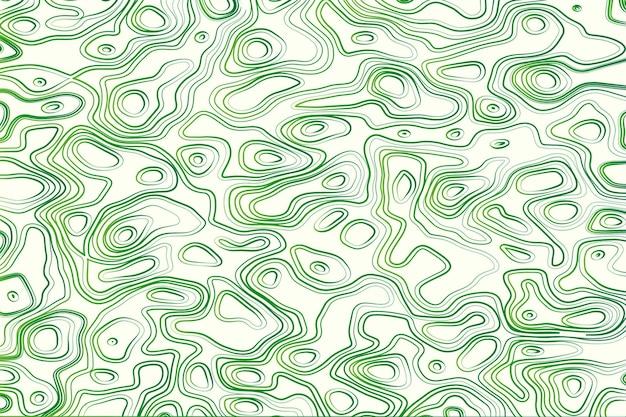 Topographischer kartenhintergrund in grün und weiß Kostenlosen Vektoren
