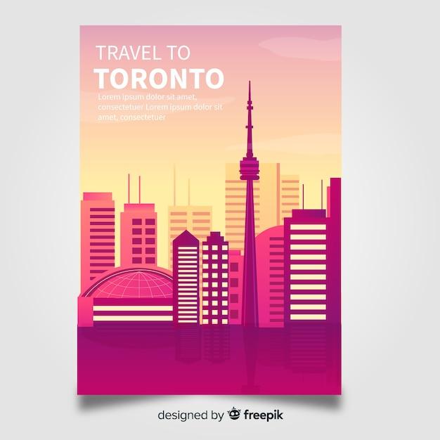 Toronto flyer vorlage Kostenlosen Vektoren