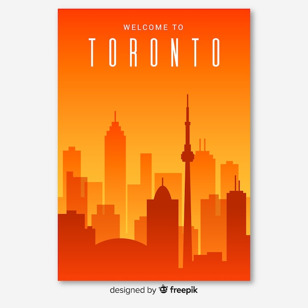Toronto-flyer Kostenlosen Vektoren
