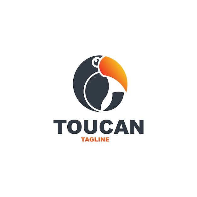 Toucan logo premium Premium Vektoren