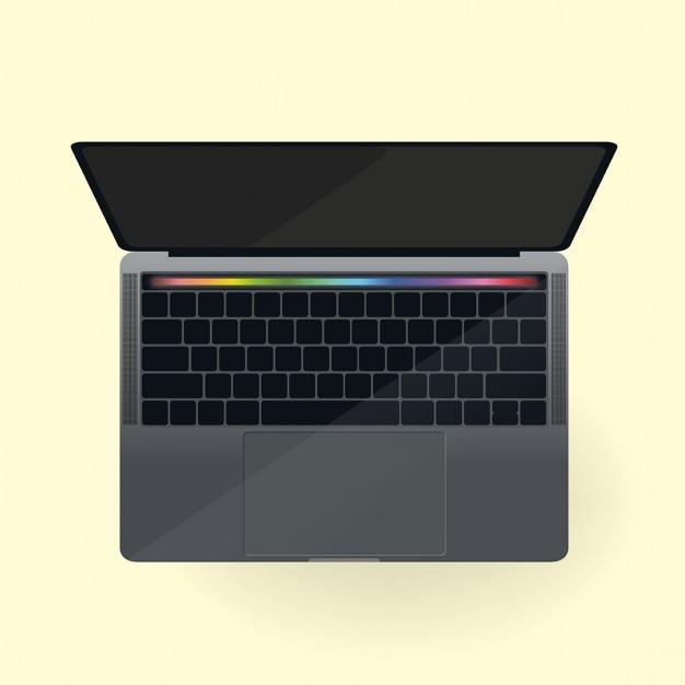 Touch-bar macbook vorlage Kostenlosen Vektoren