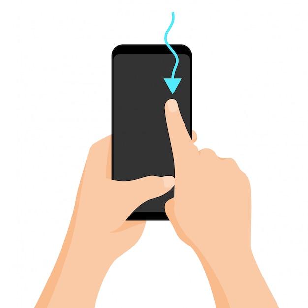 Touchscreen-geste Premium Vektoren