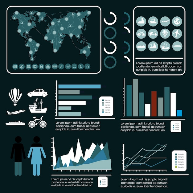 Tourismus-Infografiken Premium Vektoren