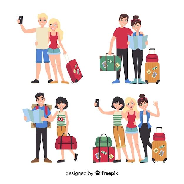 Touristische sammlung Kostenlosen Vektoren