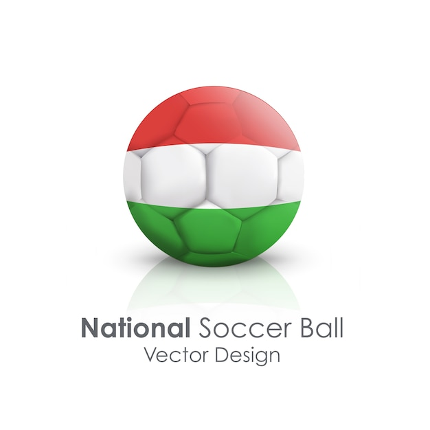 Traditionelle nation symbol clipping soccerball Kostenlosen Vektoren