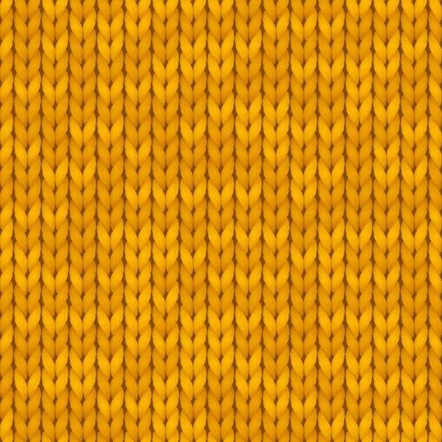 Traditionelles nahtloses gestricktes orange muster. winterhintergrund mit einem platz für text. hintergrundbeschaffenheit. nahtloses muster. illustration. Premium Vektoren