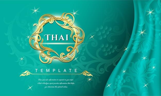 Traditionelles thailändisches hintergrundkonzept. Premium Vektoren