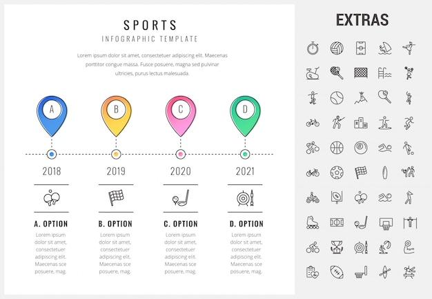 Trägt infographic schablone, elemente und ikonen zur schau Premium Vektoren