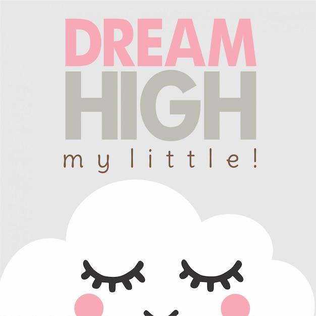 Träume eine wolke Premium Vektoren