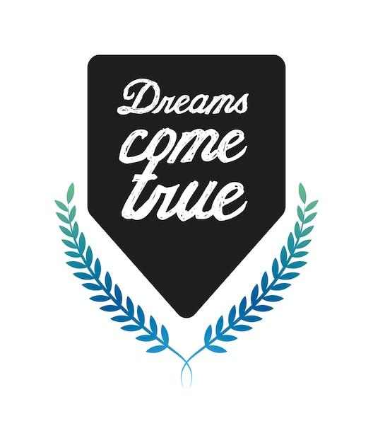Träume postkarte Premium Vektoren
