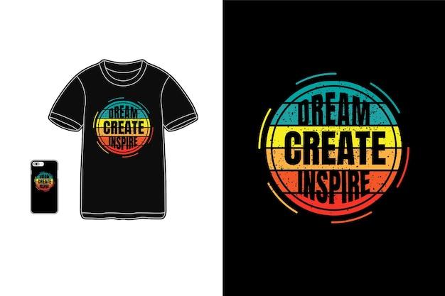 Träume schaffen inspirierende typografie Premium Vektoren