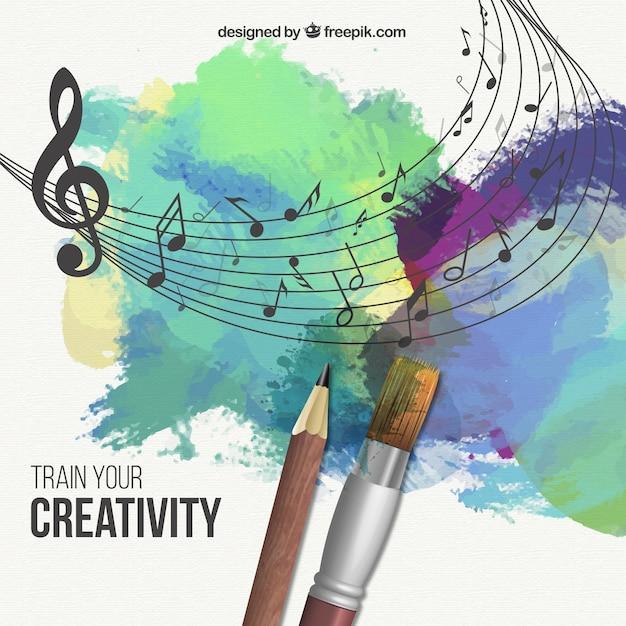 Trainieren sie ihre kreativität illustration Kostenlosen Vektoren