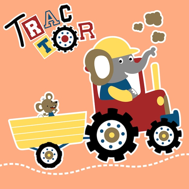 Traktor Cartoon Vektor Download Der Premium Vektor