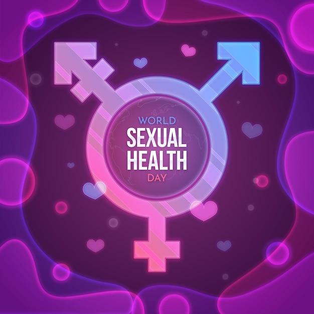 Transgender-symbol des welttages der sexuellen gesundheit Kostenlosen Vektoren
