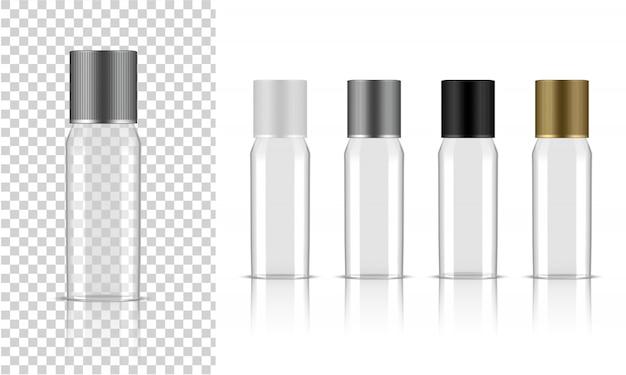 Transparente flasche. realistisches kosmetisches hautpflegeprodukt Premium Vektoren
