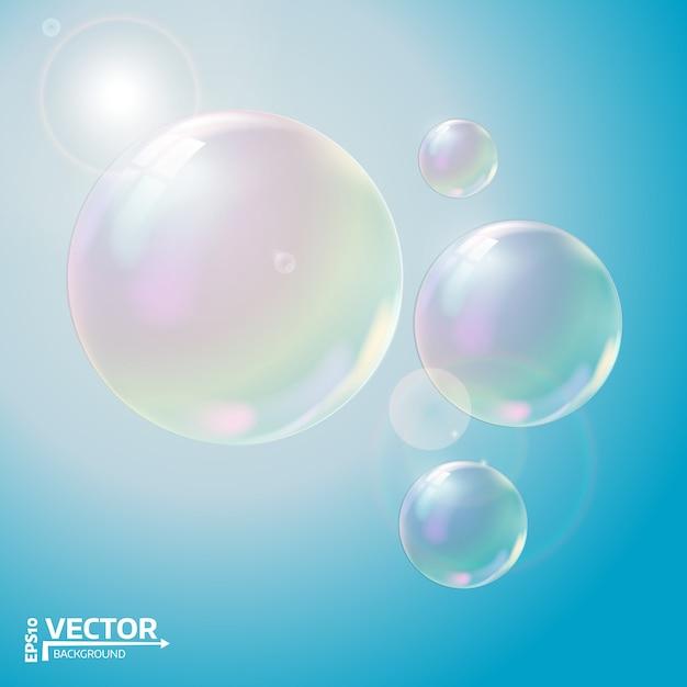 Transparente seifenblasen Premium Vektoren