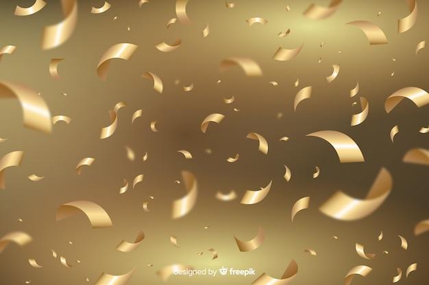 Transparenter hintergrund mit goldenen konfetti Kostenlosen Vektoren