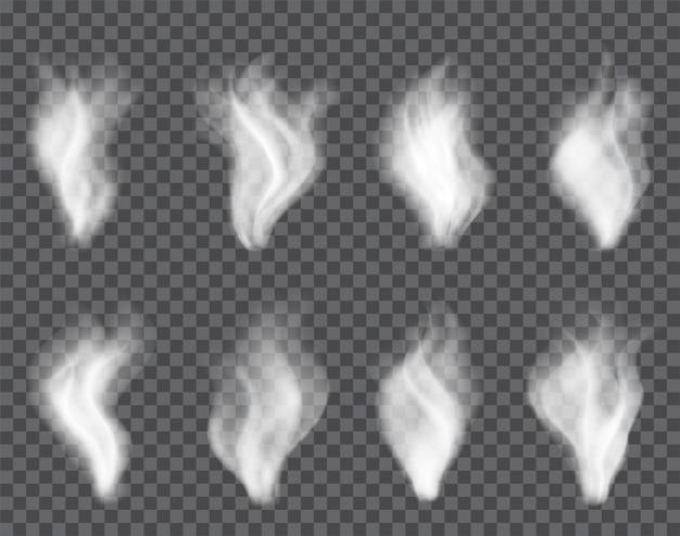 Transparenter rauch auf dunkel Premium Vektoren
