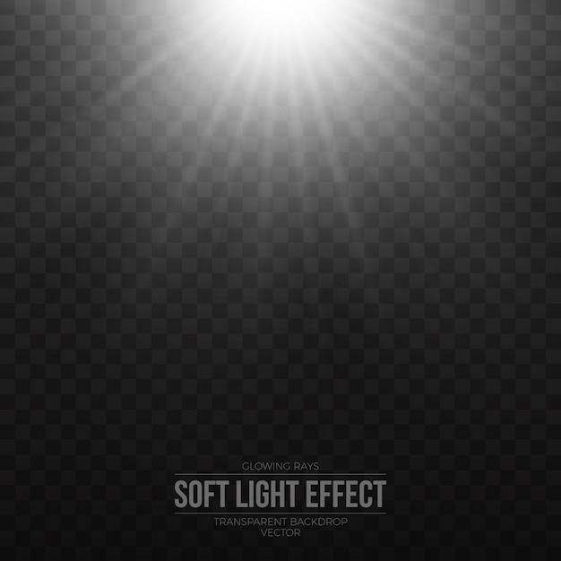 Transparenter vektor des weichen silbernen lichteffektes Premium Vektoren