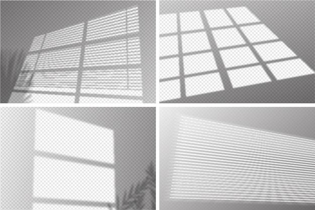 Transparentes schattenkonzept mit ovelay-effekt Kostenlosen Vektoren