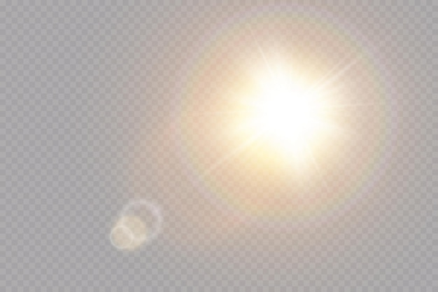 Transparentes sonnenlicht speziallinseneffekt. Premium Vektoren
