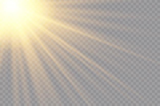 Transparentes sonnenlicht spezialobjektiv blitzlichteffekt Premium Vektoren