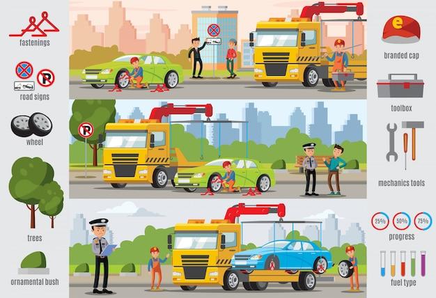 Transport evakuierung infografik vorlage Kostenlosen Vektoren