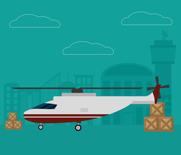 Transport und logistik luftservice Premium Vektoren