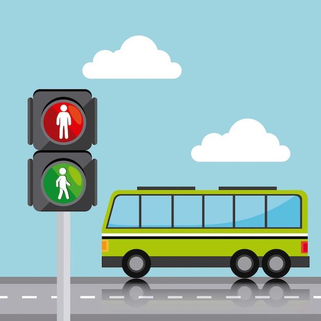 Transport-, verkehrs- und fahrzeugdesign Kostenlosen Vektoren