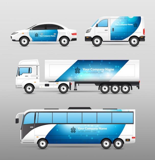 Transport Werbung Design Kostenlose Vektoren