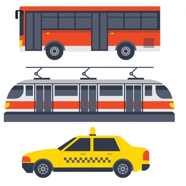 Transportfahrzeuge design Kostenlosen Vektoren