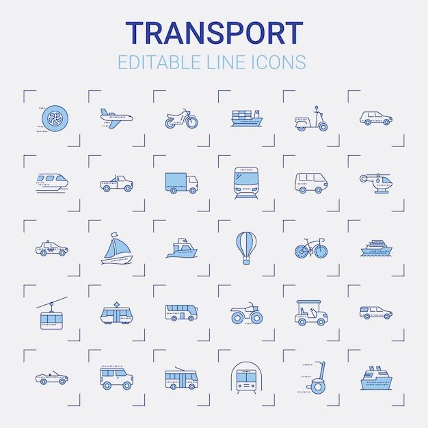 Transportleitungssymbole festgelegt Premium Vektoren