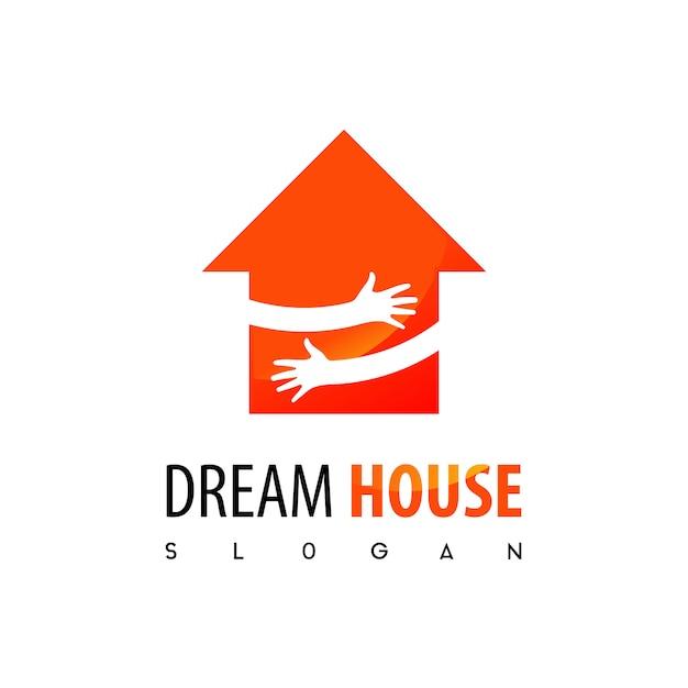 Traumhaus, immobilien logo Premium Vektoren