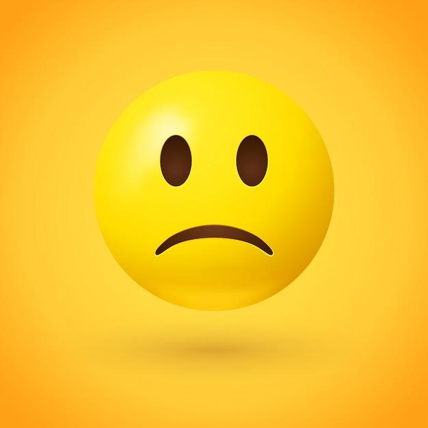 Traurige emoji gesichtsillustration Premium Vektoren