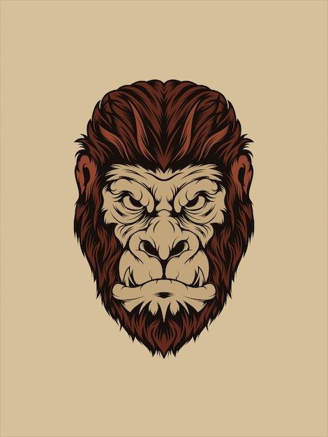 Trauriger gorilla Premium Vektoren