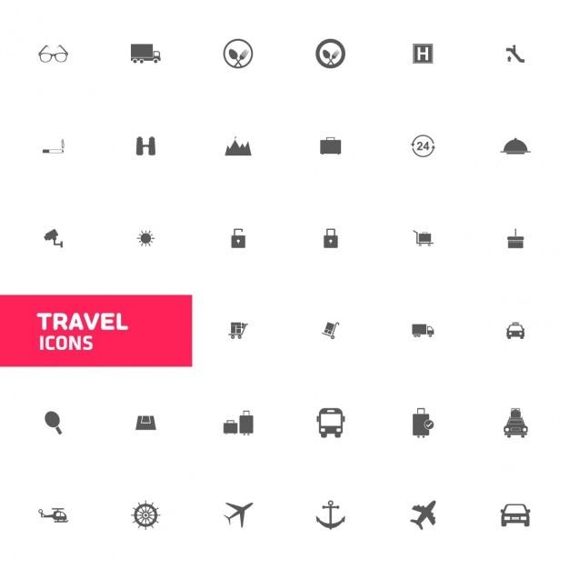 Travel icon sets Kostenlosen Vektoren