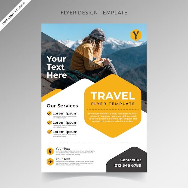 Travel tour und urlaub flyer vorlage Premium Vektoren