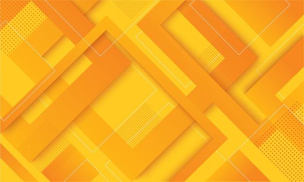 Trendiger hintergrund des modernen gelben quadratgradienten Premium Vektoren