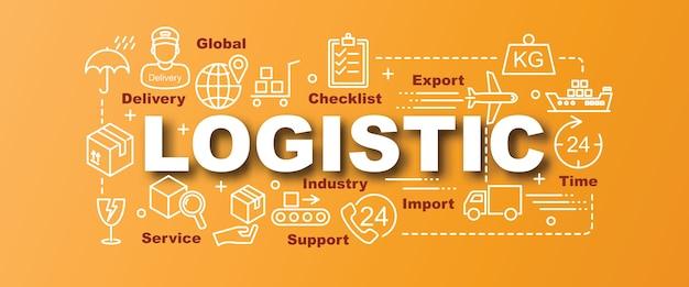 Trendy banner des logistischen vektors Premium Vektoren