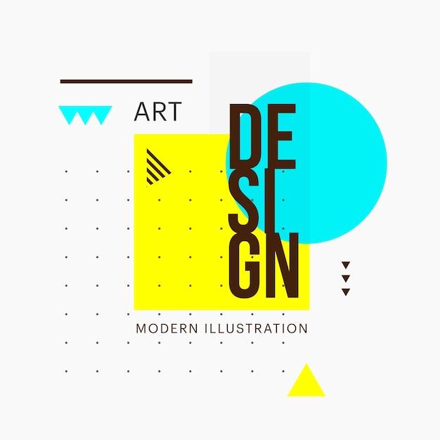 Trendy minimalistische geometrische form design Premium Vektoren