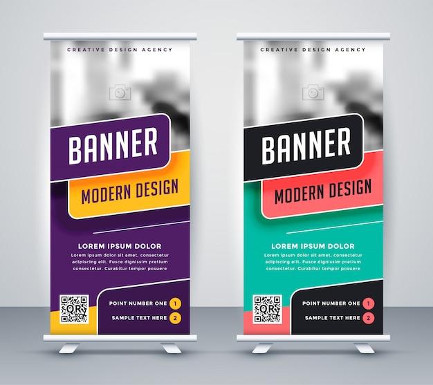 Trendy rollup kreative banner design-vorlage Kostenlosen Vektoren