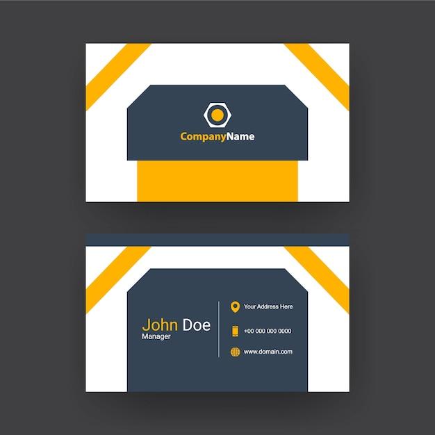 Trendy und einfache visitenkarte design. Premium Vektoren