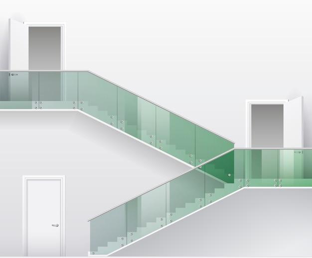 Treppen und türen Premium Vektoren