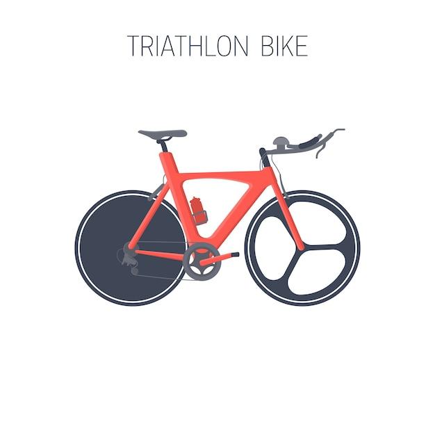 Triathlon fahrrad. sport-symbol. Premium Vektoren