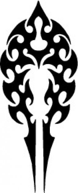 Tribal Tatoo Pfeilform Vorlage Symbol Vektor
